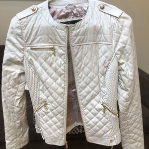 Guess faux leather light weight quilted Motojacket